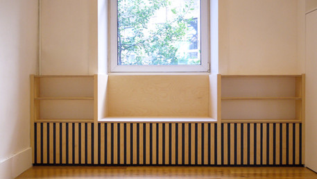 Window Seat With Bookshelving and Storage
