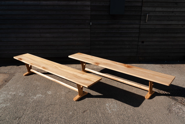 Solid Elm Pair of Benches 3.jpg