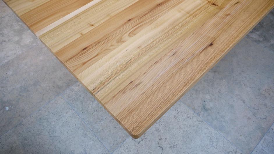 Scottish Elm dining table top detail