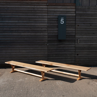 Solid Elm Pair of Benches 2.jpg