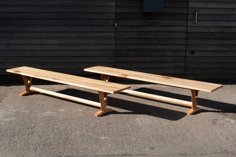 Solid Elm Pair of Benches 4.jpg
