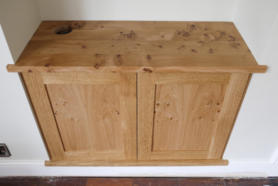 Cabinet and top