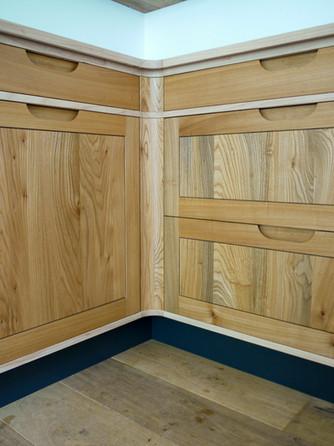 Scottish Elm Kitchen Corner Detail