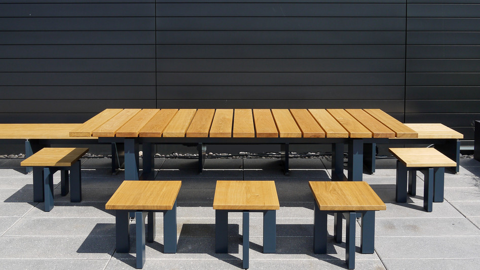Quartermile Externals Table and Seating