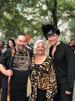 With Lady Rhea and Mike Saluga