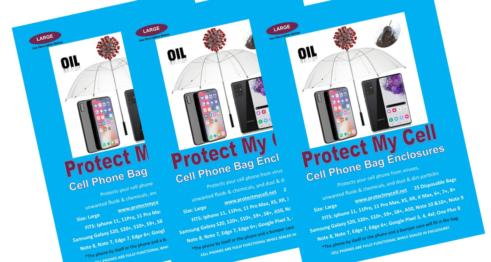 Protect My Cell 3 pk