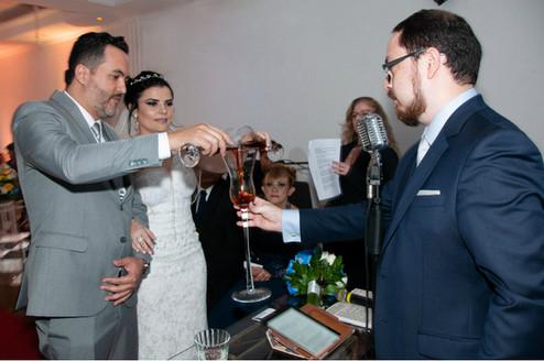 Participação dos noivos - Juliana e Washington