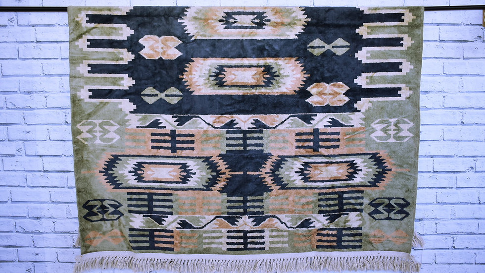 Boho Sea Green Rug- 3 day hire