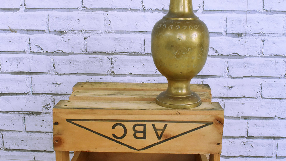 Large Brass Vase- 3 day hire
