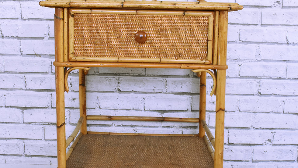 Cane Side Table- 3 day hire