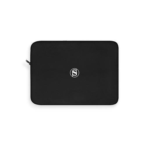Small S Laptop Sleeve Centered Logo (Black)