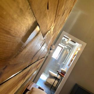 Detalle cabecero madera