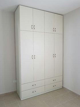 ארון 4 דלתות בהזמנה מיוחדת עד גובה התיקרה