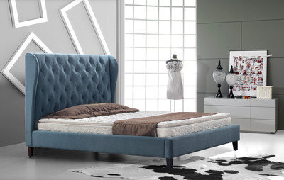 מיטה מרופדת דגם דיאנה עם כנפיים מזרונים חדרה