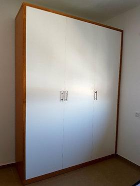 ארון 3 דלתות 180/240 גוף סנדוויץ פורניר עם דלתות בצביעה אטומה