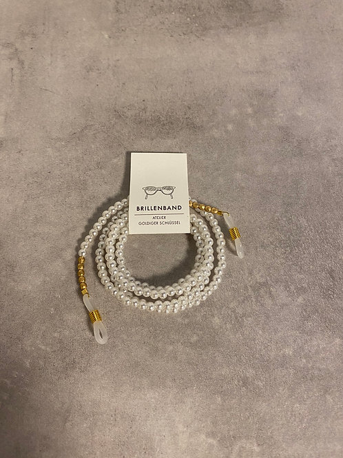 Brillenband mit Perlen