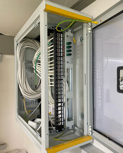 Installation des patches panel