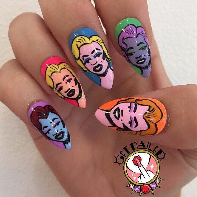 Get nailed sydney nail artist pop art marilyn get nailed sydney nail artist pop art marilyn prinsesfo Gallery