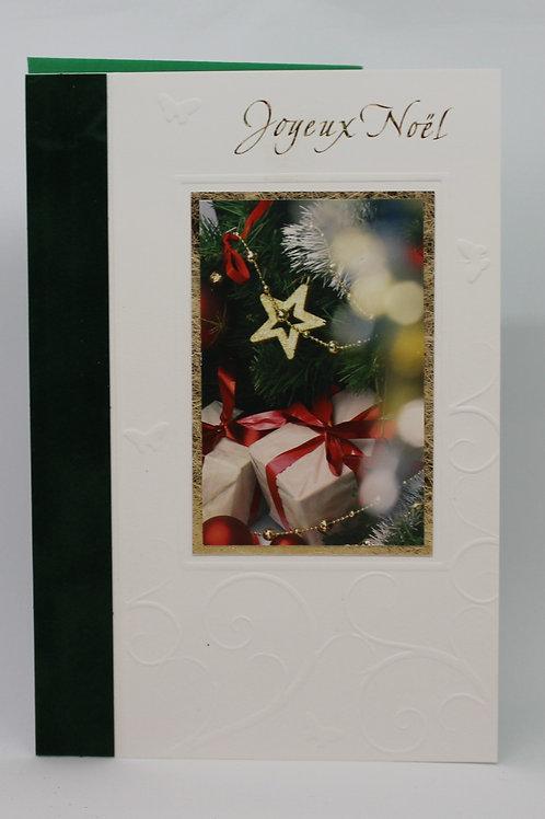 Carte de Joyeux Noël Cadeaux