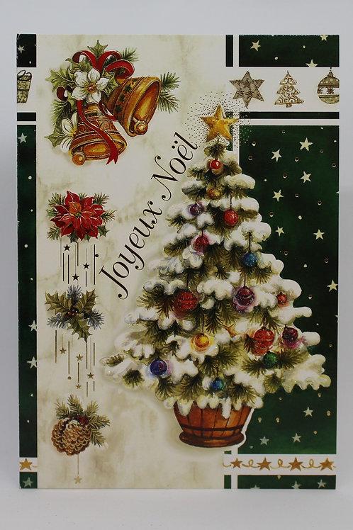 Carte de Joyeux Noël Sapin