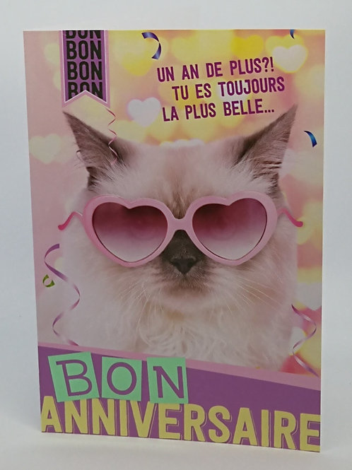Carte anniversaire chat 0001