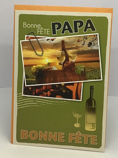 Carte pour souhaiter une Bonne fête papa