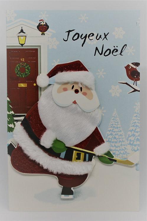 Carte de Joyeux Noël Père Noël 001