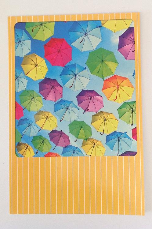 Carte Sans texte Parapluies