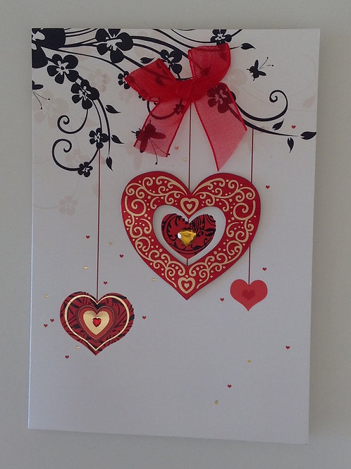 Carte St Valentin Coeurs