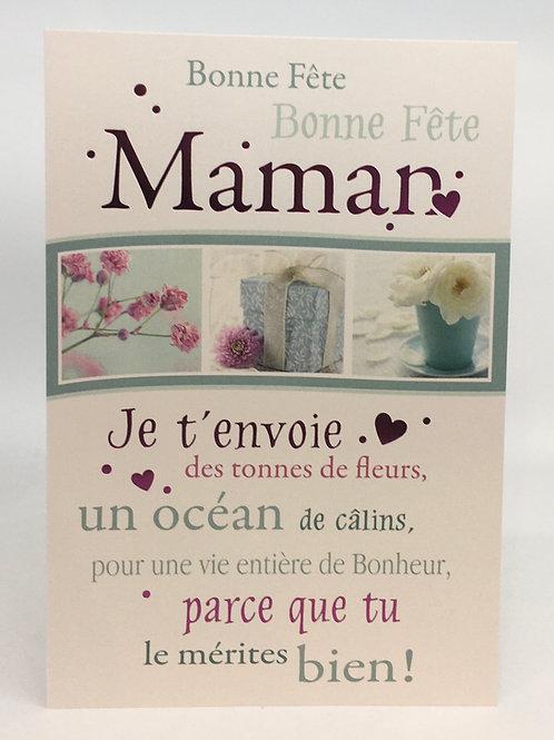 carte bonne fete maman avec des petites messages