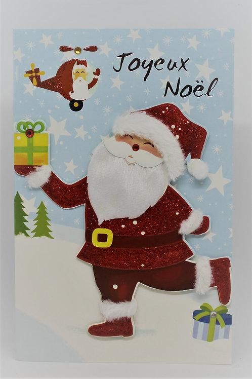 Carte de Joyeux Noël Père Noël