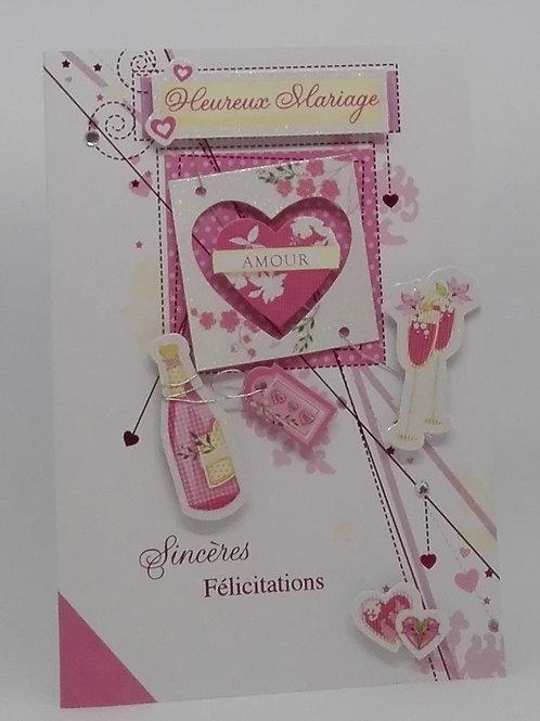 Carte mariage - Sincères félicitations