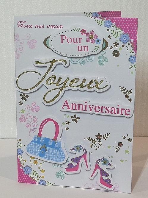 Carte anniversaire femme 0016
