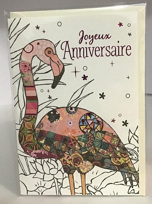 Carte heureux anniversaire- Illustration pelican