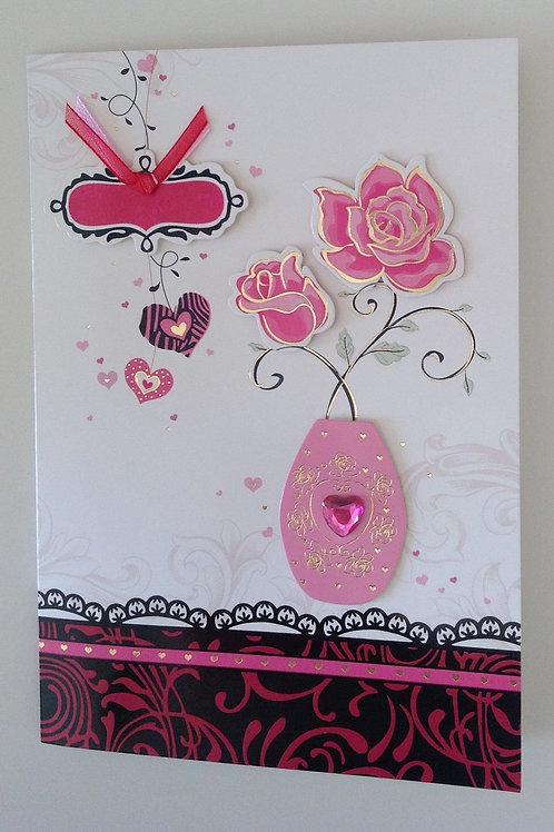 Carte St Valentin Fleurs