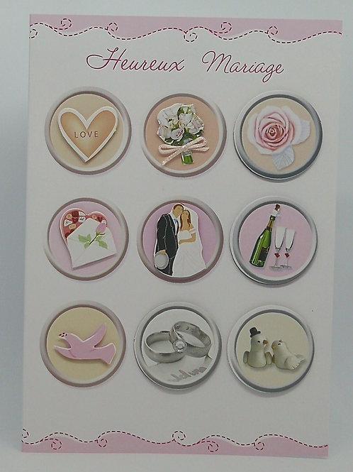 Carte de mariage medaillon