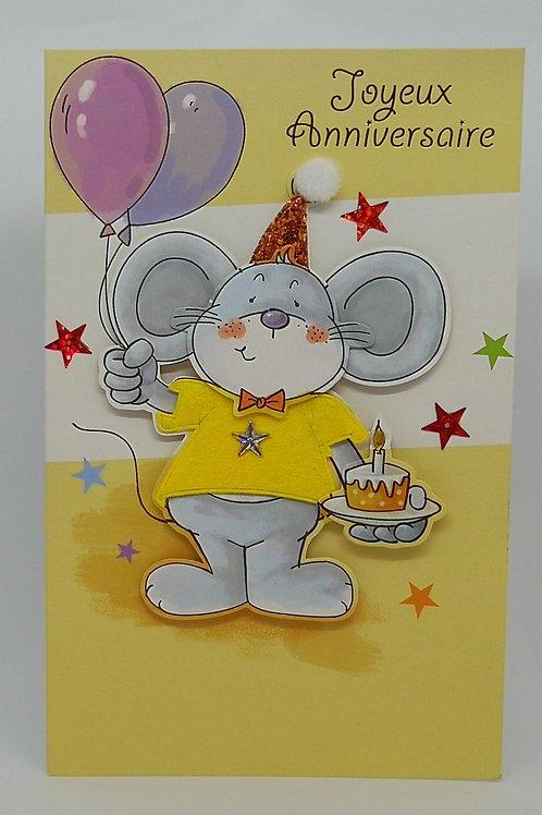 Carte d'anniversaire Lapin