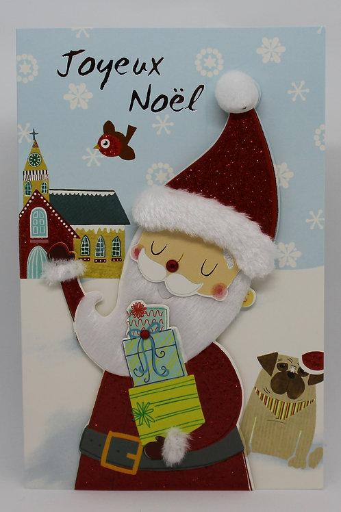 Carte de Joyeux Noël Père Noël 002
