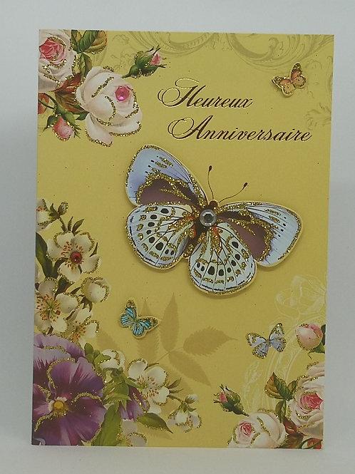 Carte anniversaire femme papillons