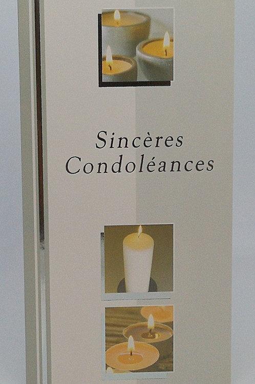 Cartes Condoléances Bougie blanche