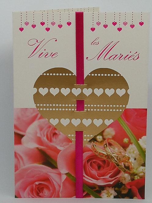 Carte de mariage coeur 03