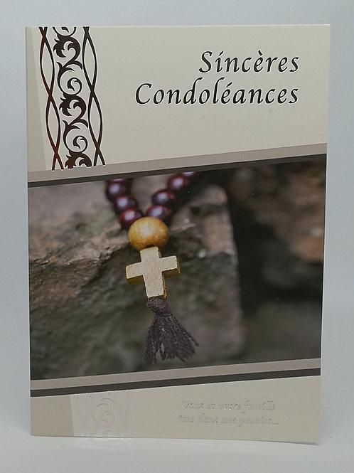 Cartes Condoléances Chapelet