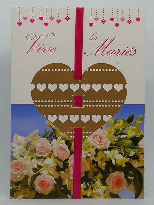 Carte de mariage coeur 05