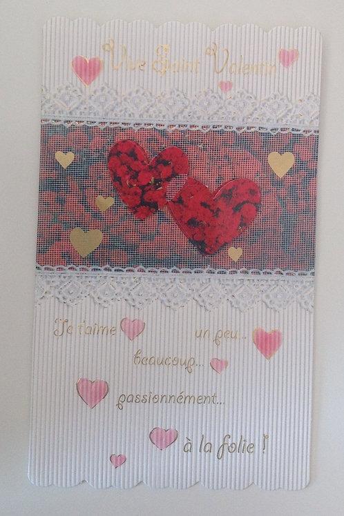 Carte vive St valentin coeurs