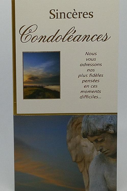 Carte Condoléance ange