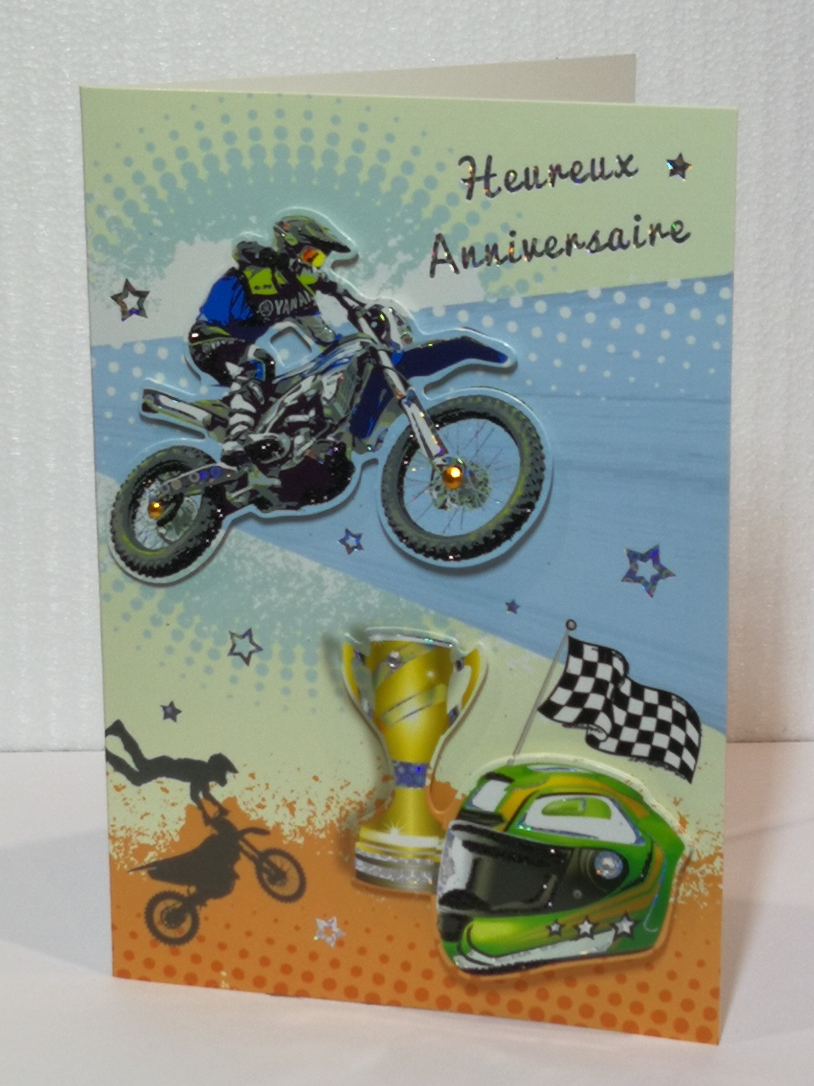 Carte D Anniversaire Moto Cross 01
