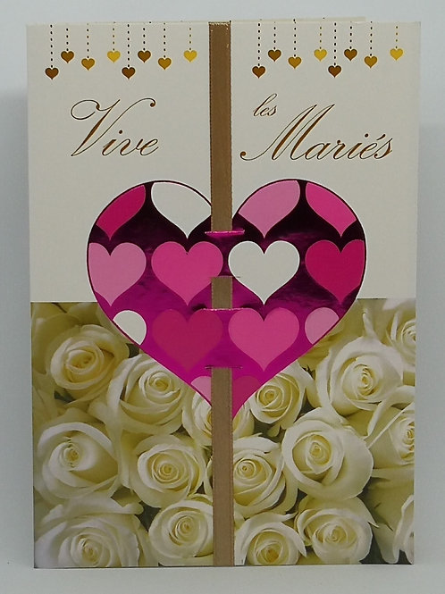 Carte de mariage coeur 01
