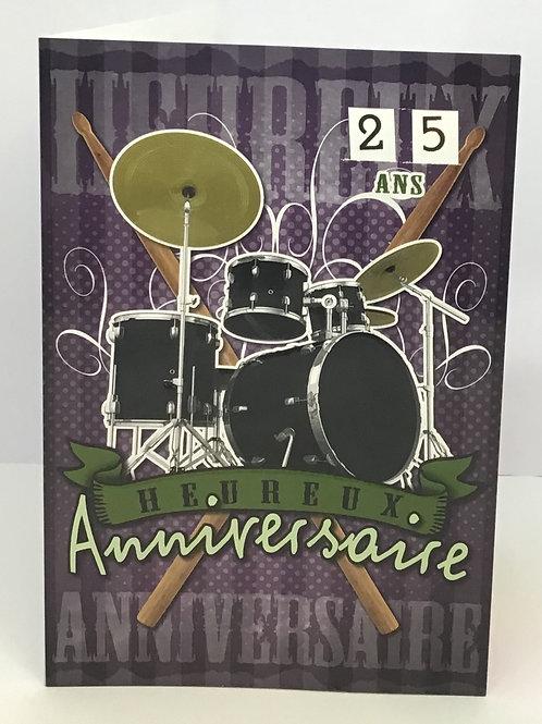 Carte heureux anniversaire thème musical