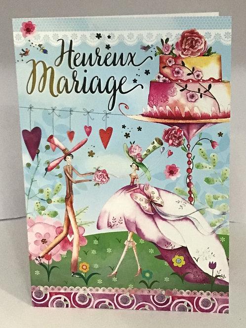 Carte de Heureux mariage