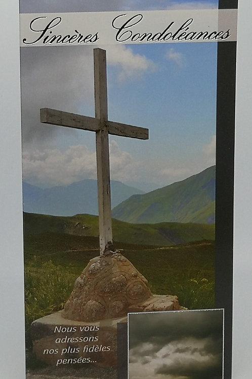 Carte Condoléances croix